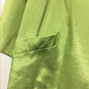 A green light weight jacket.